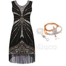 Vintage 1920s Flapper Dress Great Gatsby Fringed Tassel Fringe Party 20s Dresses