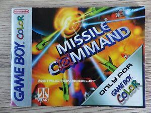 Libretto Singolo Nintendo Game Boy a Colori Missile - Manuale Instructionfr