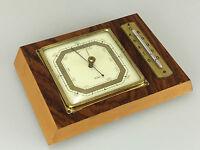 50er 60er Jahre Fischer Barometer Hygrometer Thermometer Teak Mid Century Design