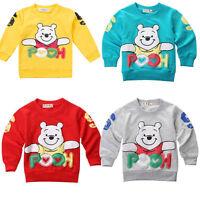 Cute 6 9 12 18 24 Months Winnie The Pooh Hoody T-shirt Baby Boy Girl Clothes