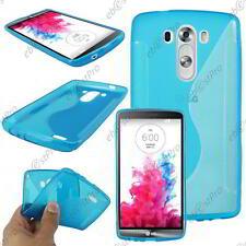 Accessoire Housse Etui Coque Souple Silicone Motif S Line Bleu LG G3 LG D855