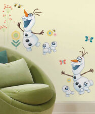 Disney FROZEN FEVER OLAF wall stickers 26 large decals flowers decor snowmen