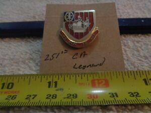 251st Coast Artillery Leonard Unit Crest, DI, DUI (DRAW#K14)
