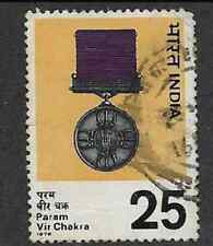 INDIA POSTAL ISSUE - 1976 USED STAMP - PARAM VIR CHAKRA MEDAL COMMEMORATION