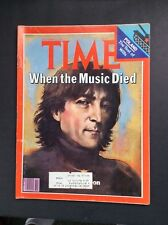 Time Magazine December 22, 1980 John Lennon VG Complete Magazine Free Shipping