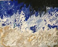 """Contemporary Abstract Modern Painting - """"The Surging Night Sea"""""""
