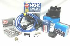 00-02 Honda Accord LX EX 4Cyl Tune-Up Cap-Rotor-NGK Wires-Spark Plug PCV Kit