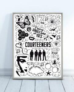 A5 Courteeners Doodle Print Wall Art