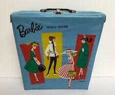 Vintage 1961 Mattel Barbie Blue Vinyl Doll Case by Ponytail