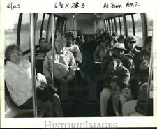 1993 Press Photo Passengers on Bus carried from Lower St. Bernard Area