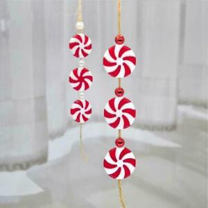 5-100X Christmas Red&White Candy Hanging bead Pendant Ornaments Xmas Tree Decor