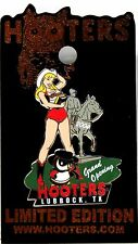 NEW! HOOTERS GIRL COWGIRL HORSE LUBBOCK TEXAS LAPEL PIN GRAND OPENING 2004