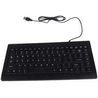 Quiet Mini 97 Keys Mini Multimedia USB Wired Keyboard For Laptop PC Office _