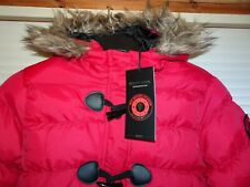 Brave Soul Red Padded Waterproof Hooded Winter Coat *Size 12* BNWT