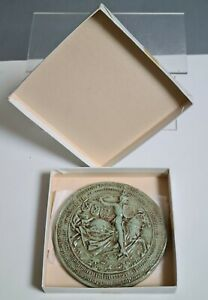 Sceau Médaille en Terre cuite de CHARLES LE TEMERAIRE reproduction du 20ème n°1