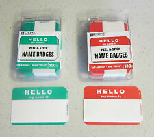 200 Hello My Name Is Name Tags Labels Badges Stickers Peel Stick Adhesive