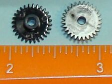 2 MOTOR GEARS AS USED IN TYCO TRAINS MADE IN HONG KONG