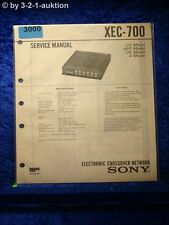 Sony Service Manual XEC 700 Electronic Crossover Network (#3000)