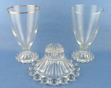 Anchor Hocking Berwick Boopie Water Goblets Candlestick