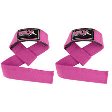 Bar Straps Weight Lifting Power Gym Training Wrist Support Bandage Padded Pink