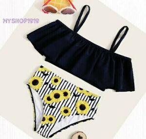 Girls Swimwear Swimsuit Bathing suit Swimming Costume Bikini set Age 8-14 years