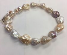 30x40mm Multi Color Baroque Freshwater Pearls