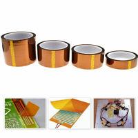 5-50mm Gold High Temperature Heat Resistant Kapton Tape Self-adhesive Polyi R7P5