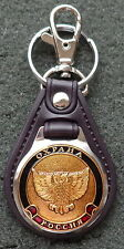 RUSSIAN DOG TAG PENDANT MEDAL faux leather keychain OWL SECURITY