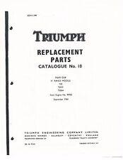 Triumph Parts Manual Book 1965 Tiger Cub T20, T20SS & T20SH