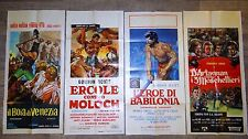 lot 4 affiches ; peplum ,  hercule ...  affiche cinema ; gordon scott