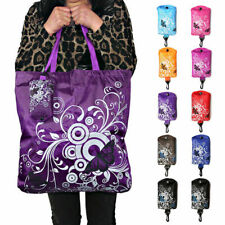 Shopping Bag Pouch Beach Tote Fold Away Reusable Eco Foldable Roll Up Shoulder