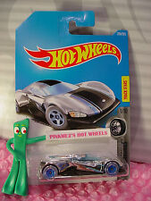 CRESCENDO #228✰chrome/black/blue✰SUPER CHROMES✰2017 i Hot Wheels case K/L