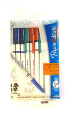 PAPERMATE 045 CARBURE BLACK, BLUE, RED, GREEN FINE BALLPOINT PENS 10/PACK NEW