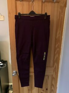 PLUM JEGGINGS FROM MARKS AND SPENCER SIZE 16 LONG BRAND NEW WITH TAGS