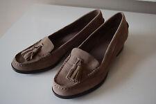 Ralph Lauren Brown Suede leather Tassel low heel loafer excellent 6.5 B career