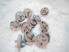 12 Old Cast Iron Rollers from Kansas Farm what are they