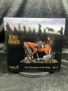 """WETA LORD OF THE RINGS """"THE FELLOWSHIP OF THE RING SET 3"""" MINI STATUE FIGURE SET"""