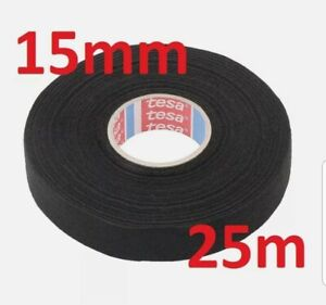 15mm x 25m TESA Tape PET FLEECE CABLE ROLL ADHESIVE CLOTH FABRIC WIRING HARNESS