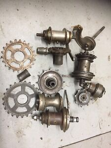 vintage bicycle bike parts Victorian Edwardian Rare Hub Job Lot 2