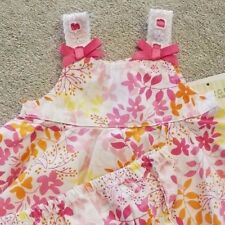 DARLING! NEW GEORGE PREEMIE 2PC PINK RUFFLE FLORAL DRESS W/BLOOMERS