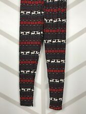 Reindeer Snowflake Christmas Leggings Tall & Curvy Yoga TC Buttery Soft