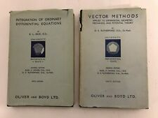 2 Vintage Mathematical Texts: Differential Equations AND Vector Methods – 1952/7