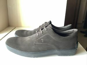 Tods Brown Suede Lace Up Casual Shoes Mens Size UK9 Made In Italy