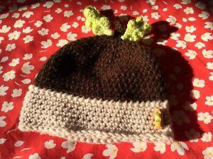 Baby Acorn Hat, newborn photo prop, baby shower gift newborn-2 years
