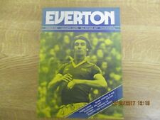 October 1977, EVERTON FOOTBALL PROGRAMME, Mark Higgins, Gordon Lee, George Wood.