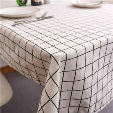Table Cover Water Proof Table Decoration Tablecloth Recrangle Linen and Cotton