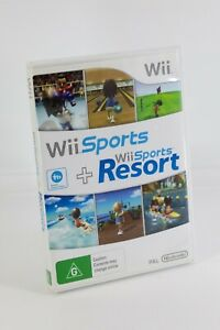 Nintendo Wii Sports and Wii Sports Resort With Manual Like New Fast Free Postage