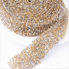 Rhinestone Beaded Iron On Applique Trim WeddingsBridal Dress Embellishment Decor