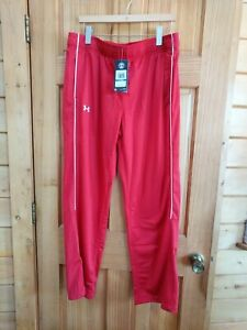 NWT XL Under Armour Women's Rival Knit Warm Up Pants Red 1277160 Red ($44.99)
