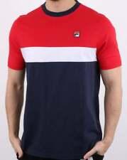 Fila T Shirt in Navy, White & Red - colour block tee, short sleeve, Lattea